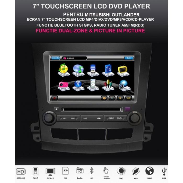 Navigatie dedicata dvd auto Mitsubishi Outlander