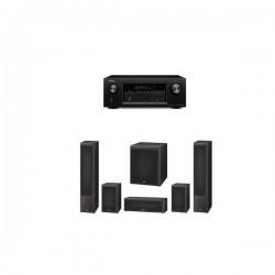 Pachet 5.1 Magnat Monitor Supreme 1002 + 202 + Center 252 + Sub 302A + Receiver AV Denon AVR X-2100
