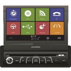 Sistem de navigatie Macrom m-dvd 6560 retractabil 1din lcd 7'' gps tv carkit