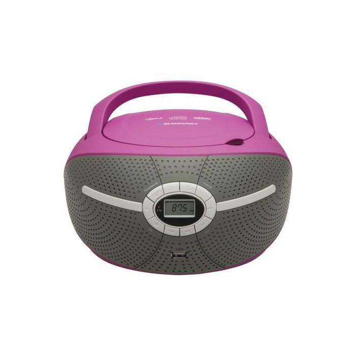 Microsistem audio Blaupunkt Boombox BB6VL, CD Player, USB, AUX, 2X1.2W, Violet
