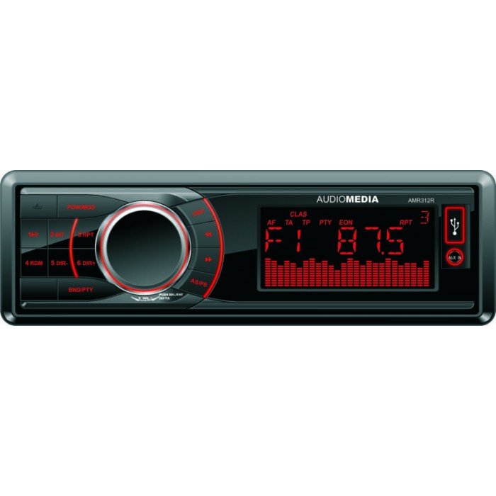 Player auto Audiomedia AMR 312, 4×40 w, FM ,SD,USB, Fata detasabila